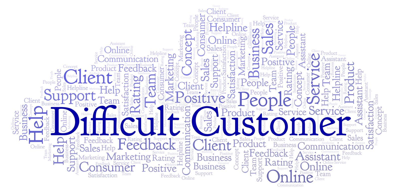 Nube difícil de la palabra del cliente libre illustration
