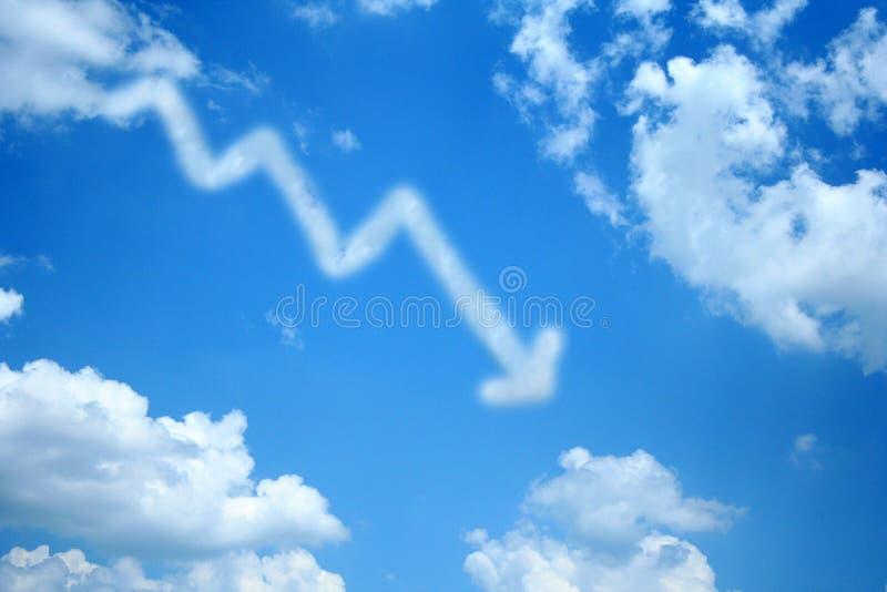 Nube in discesa immagini stock libere da diritti