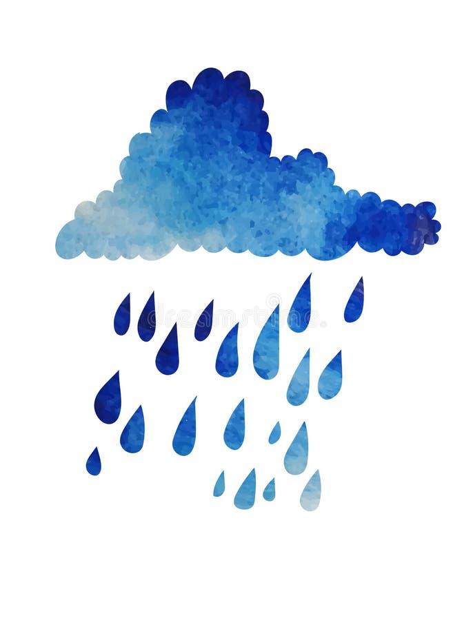 Nube e pioggia illustrazione vettoriale
