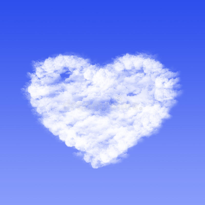 Nube en la forma del corazón foto de archivo libre de regalías