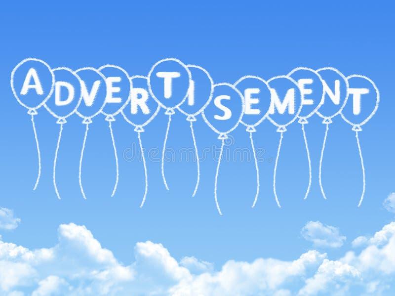Nube formada como mensaje del anuncio libre illustration