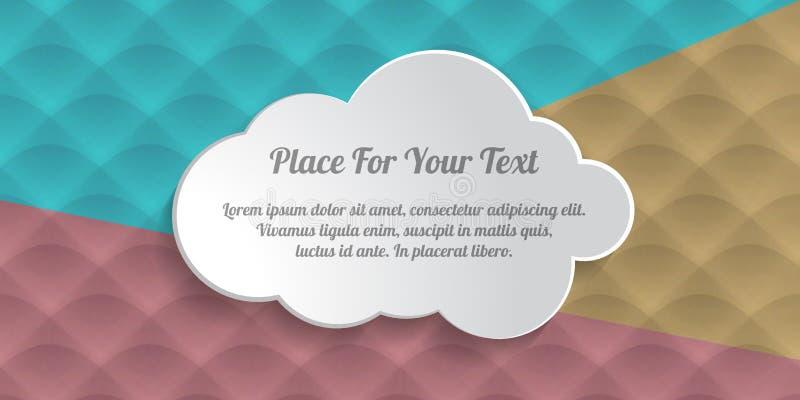 nube gris del cuadro de texto en albu coloreado m?nimo de la cubierta del extracto de las ondas libre illustration