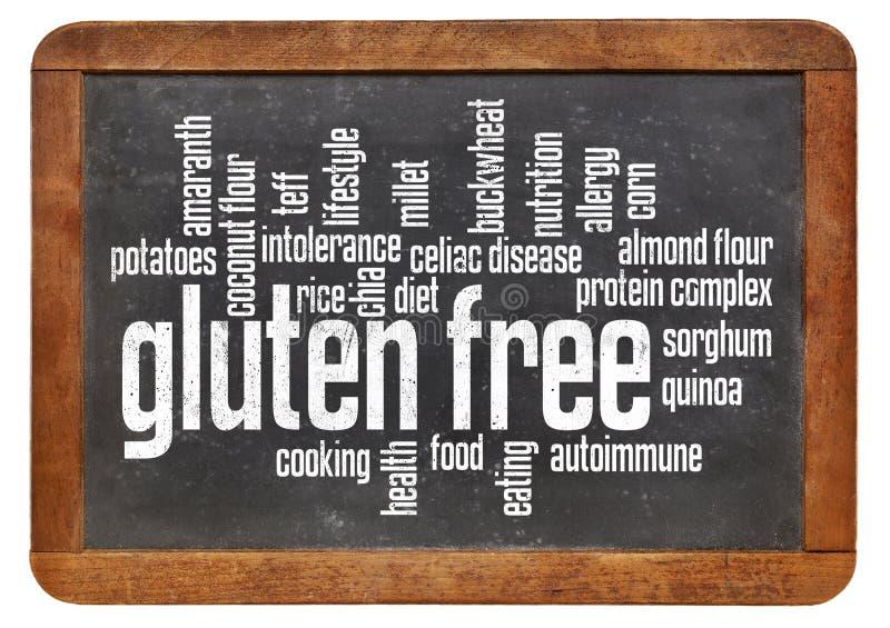 Nube libre de la palabra del gluten imágenes de archivo libres de regalías