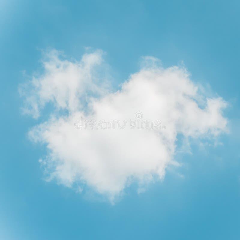 Nube mullida blanca contra el cielo azul claro imagenes de archivo
