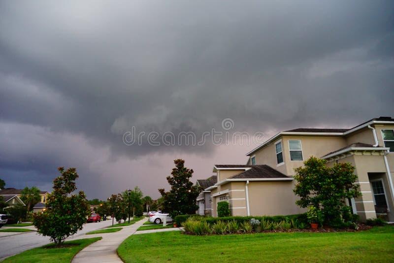 Nube negra de la Florida fotos de archivo