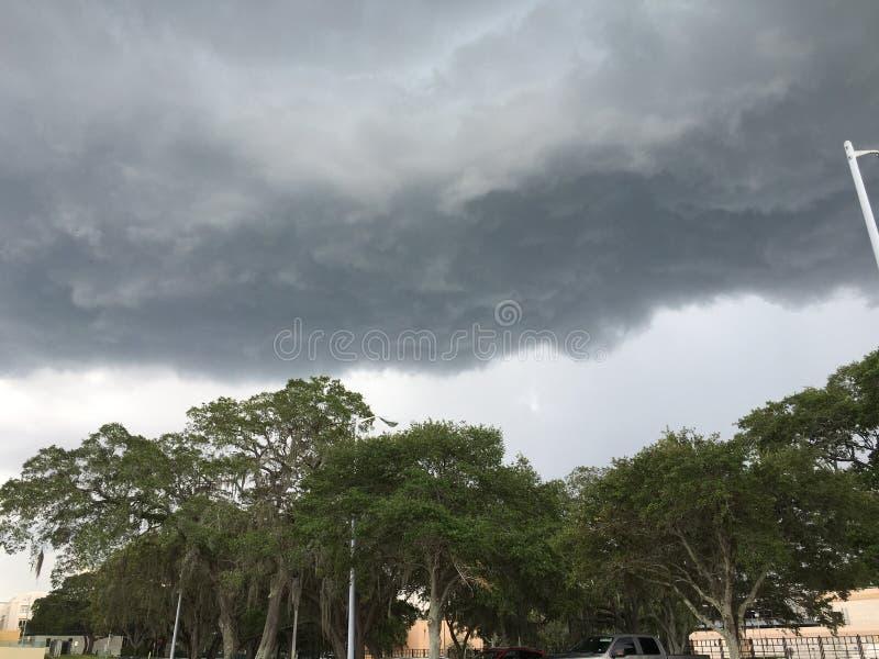 Nube negra de la Florida imagen de archivo