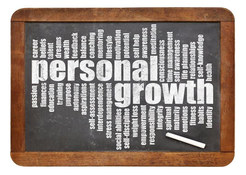 Nube personal de la palabra del crecimiento fotografía de archivo libre de regalías