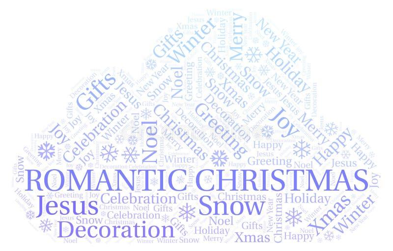 Nube romántica de la palabra de la Navidad libre illustration
