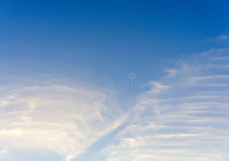 Nube suave en textura clara del cielo fotografía de archivo libre de regalías