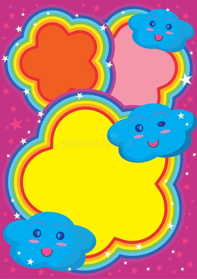 Nube sveglia Space_eps del Rainbow illustrazione di stock