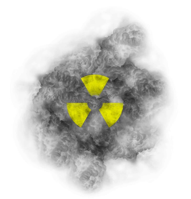 Nube tóxica del símbolo nuclear libre illustration