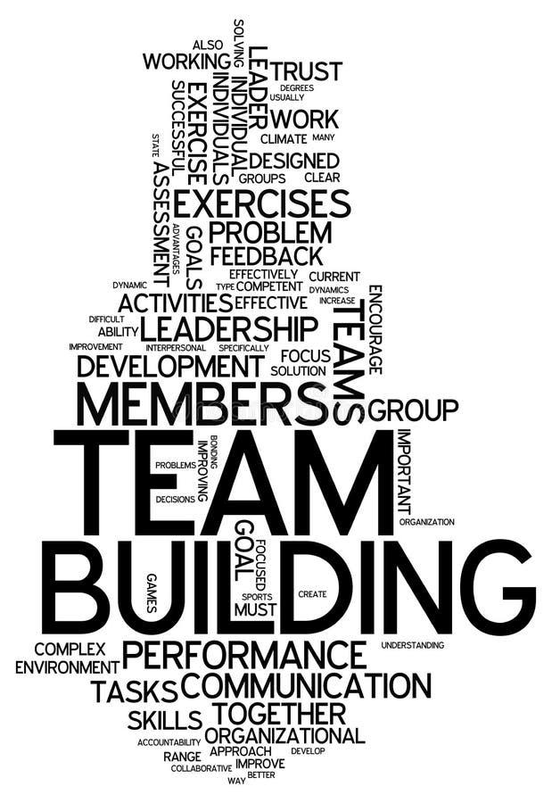 Nube Team Building de la palabra ilustración del vector