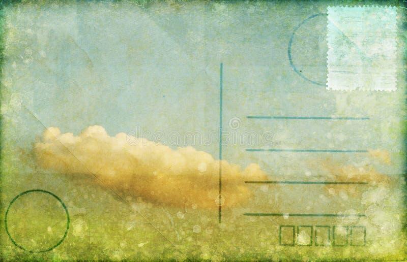 Nube y cielo en la postal ilustración del vector