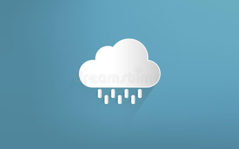 Nube y estación de lluvias ilustración del vector