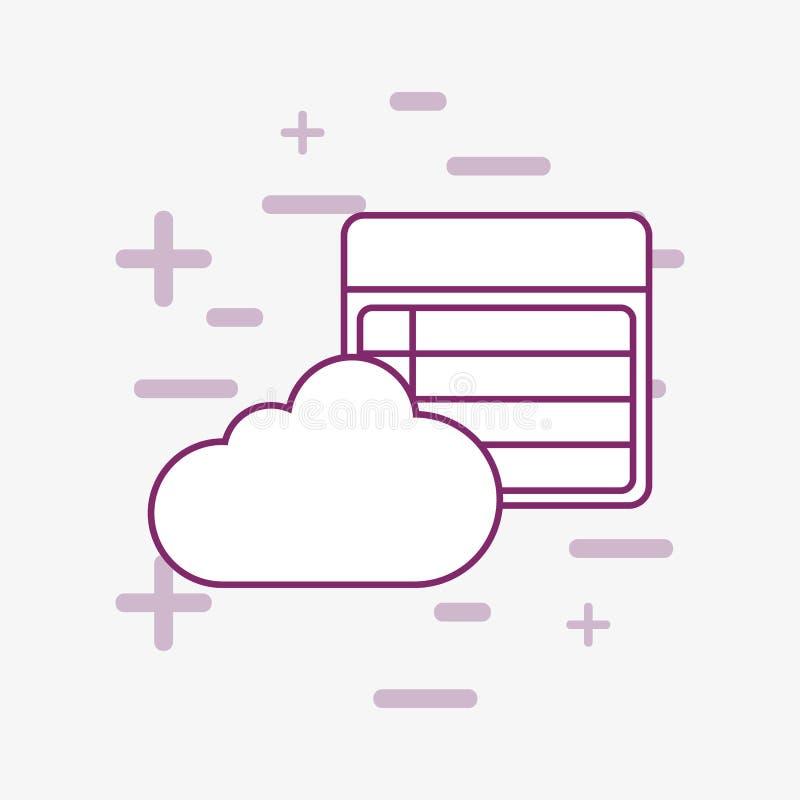 Nube y factura libre illustration