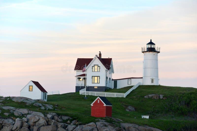 Nubel latarnia morska, Maine obrazy stock