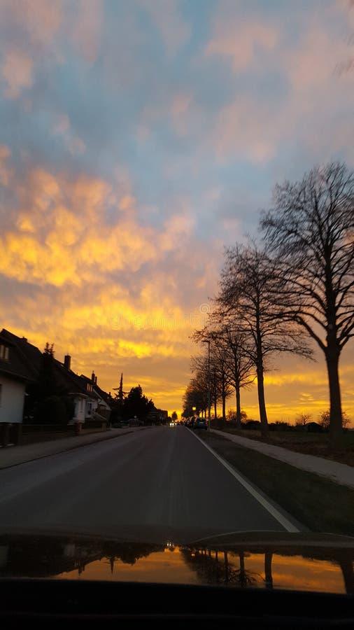 Nubes ardientes imagen de archivo libre de regalías