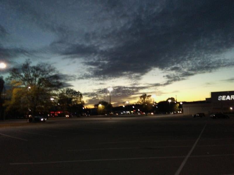 Nubes asustadizas antes de la tormenta foto de archivo