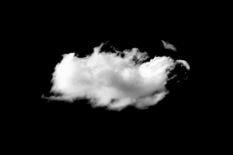 Nubes blancas aisladas en fondo negro imágenes de archivo libres de regalías