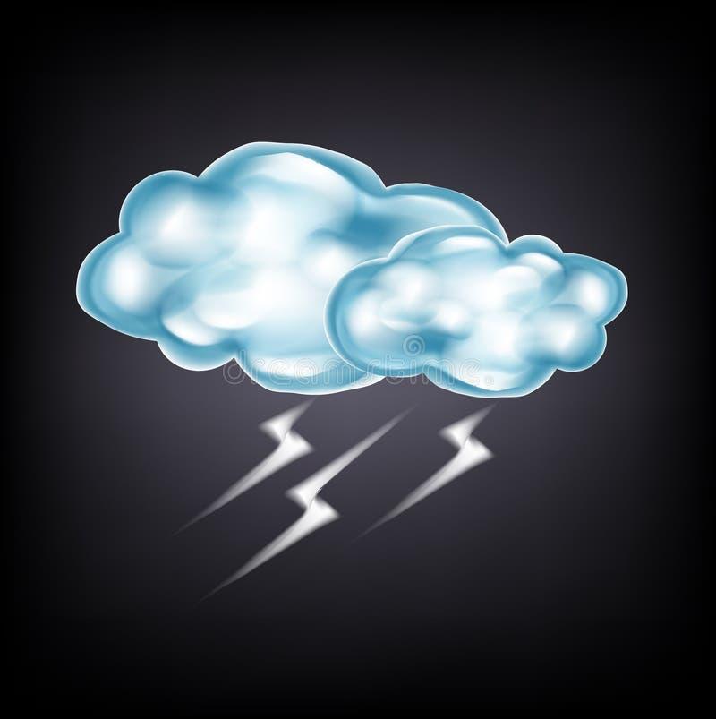 Download Nubes Con El Relámpago En Oscuridad Ilustración del Vector - Ilustración de cubo, clima: 42440337
