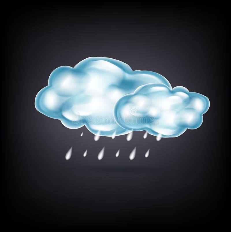 Download Nubes Con Lluvia En Oscuridad Ilustración del Vector - Ilustración de cloudscape, downpour: 42440328
