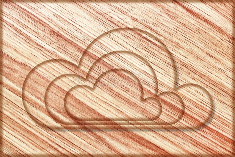 nubes creativas en el tablero de madera libre illustration