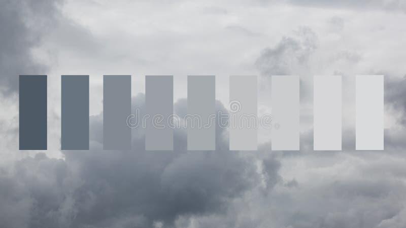 Nubes de fuertes lluvias foto de archivo