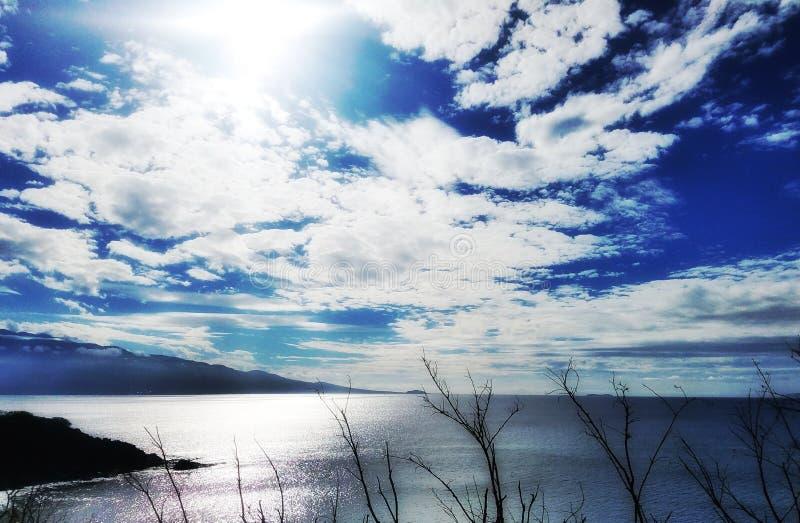 Nubes de Hawaii foto de archivo