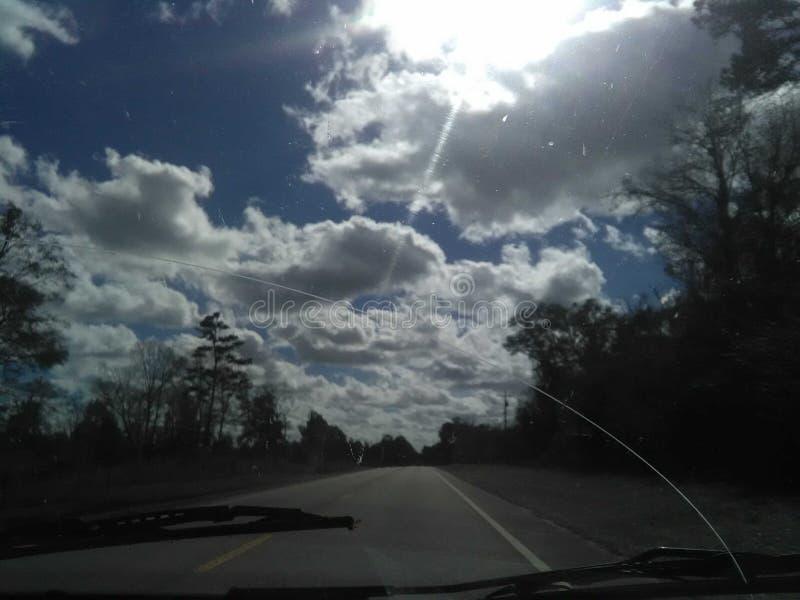 Nubes de la animación imagenes de archivo