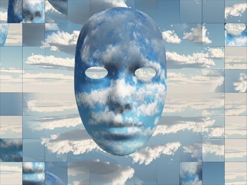 Nubes de la cara ilustración del vector