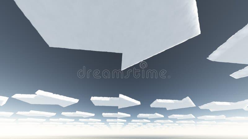 Nubes de la flecha libre illustration