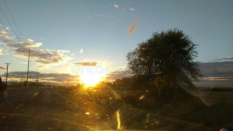 Nubes de la mañana fotos de archivo