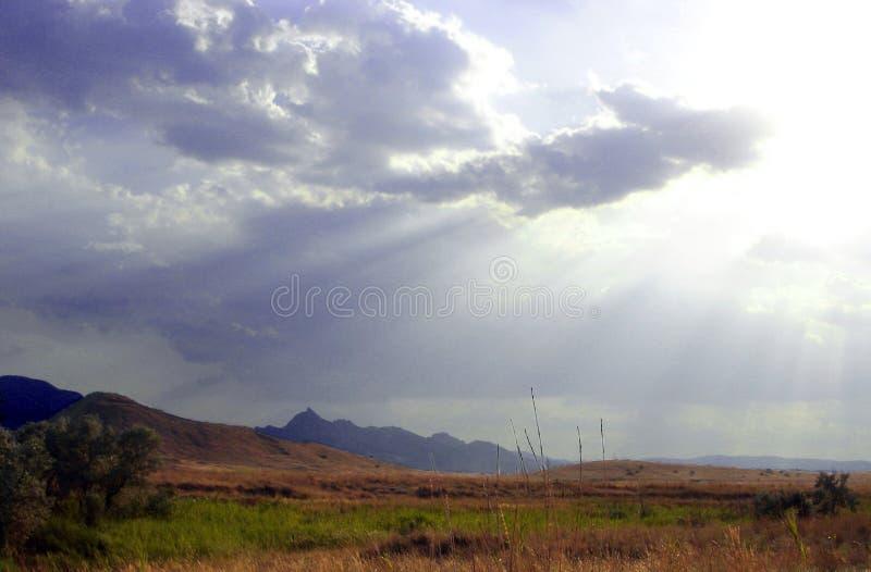Nubes de la ventaja imagen de archivo libre de regalías