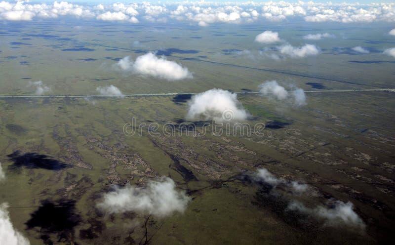 Nubes de los humedales imagen de archivo