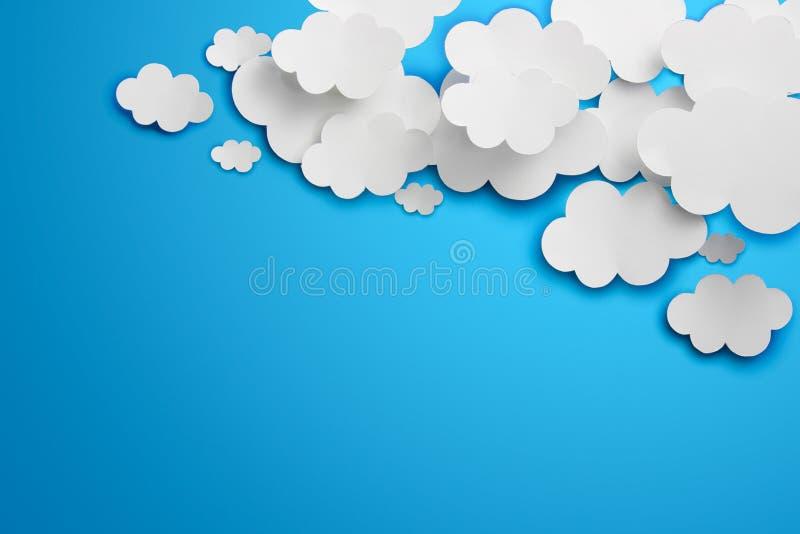 Nubes de papel ilustración del vector
