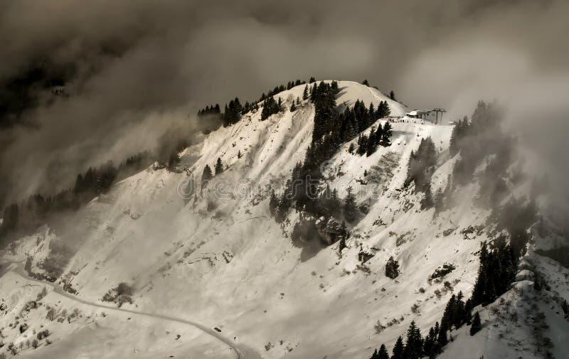 Nubes de tormenta del invierno foto de archivo libre de regalías