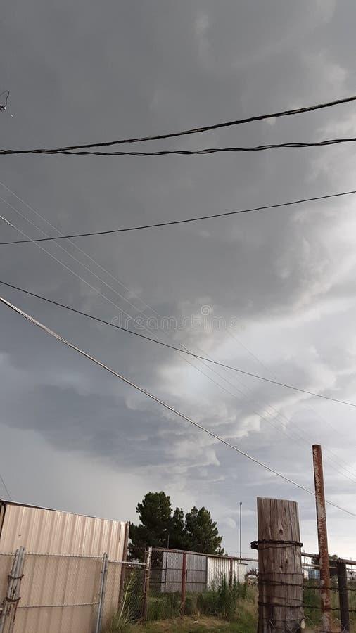 Nubes de tormenta en Tejas del oeste foto de archivo