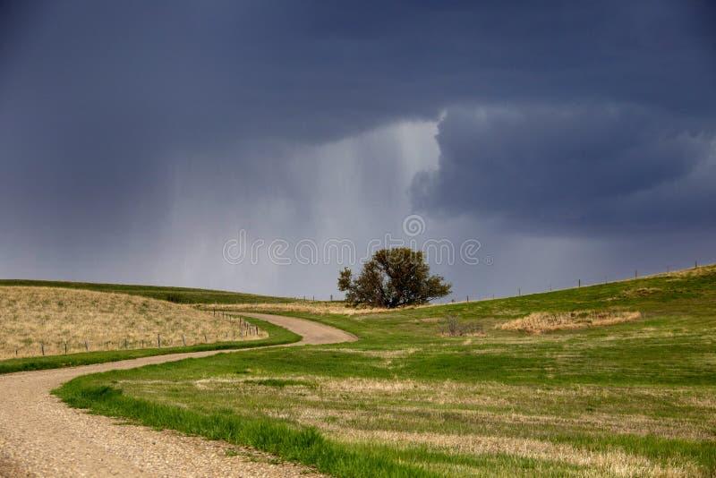 Nubes de tormenta de la pradera imagen de archivo libre de regalías