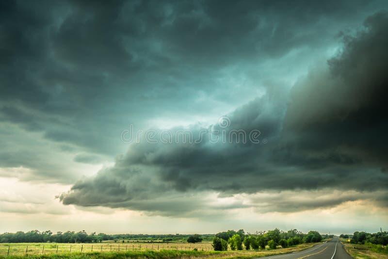 Nubes de tormenta de Texas fotografía de archivo libre de regalías
