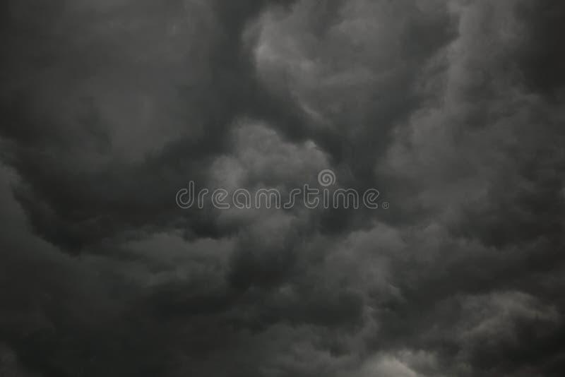 Nubes de trueno fotografía de archivo