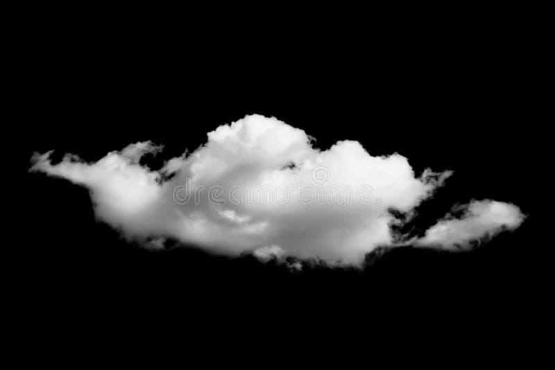 Nubes de Whtie aisladas en fondo negro imágenes de archivo libres de regalías