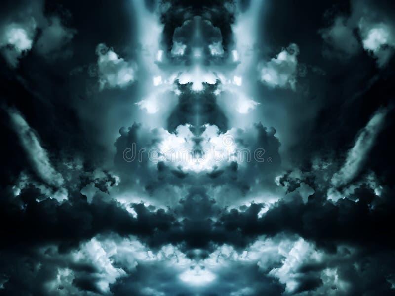 Nubes del Aquamarine imagen de archivo libre de regalías