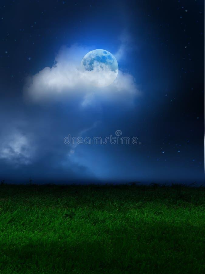 Nubes del cielo de la luna foto de archivo
