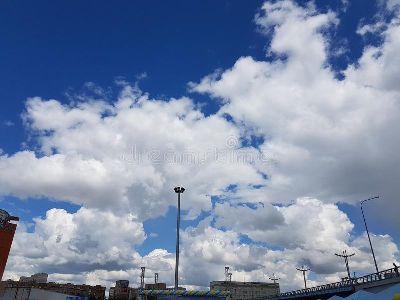 Nubes del misterio fotografía de archivo