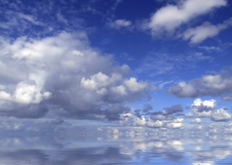 Nubes en horizonte fotografía de archivo