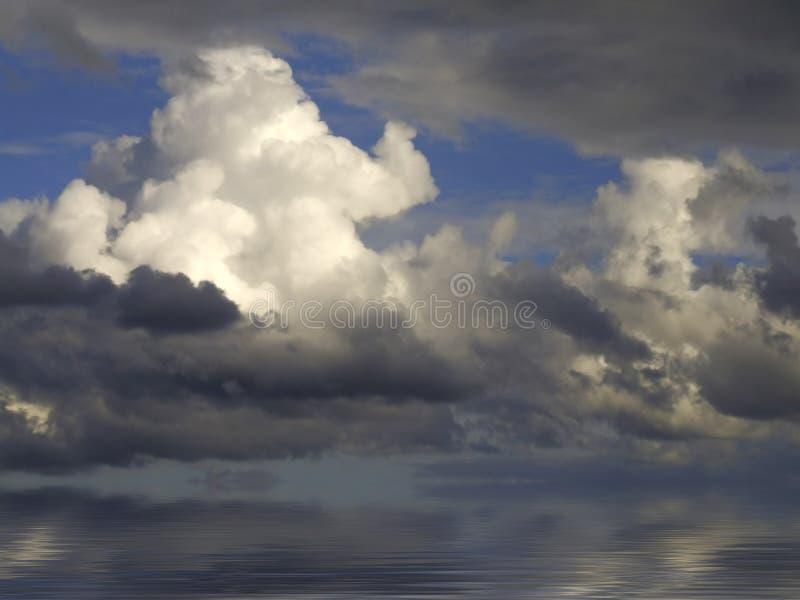 Nubes en horizonte imagen de archivo libre de regalías