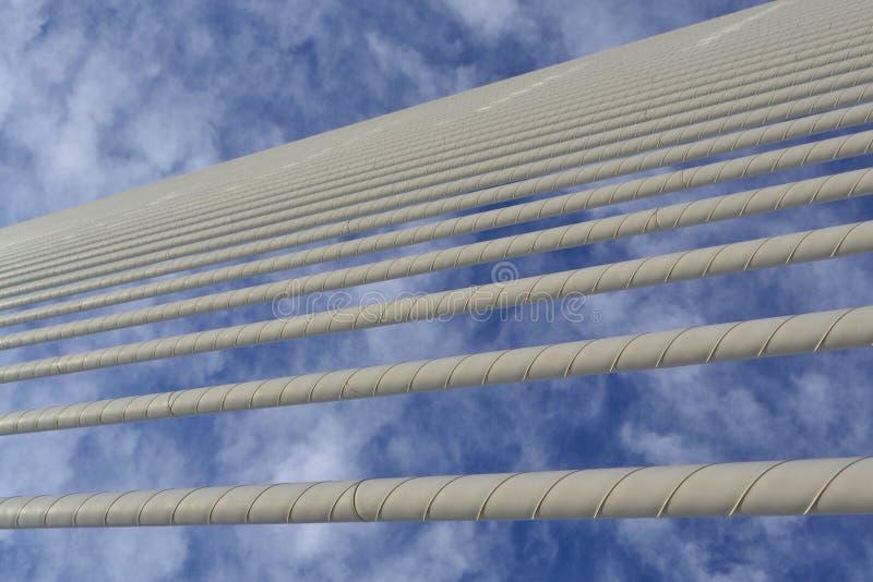 Nubes en líneas fotografía de archivo