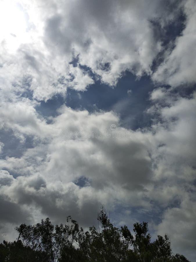 Nubes en la India foto de archivo