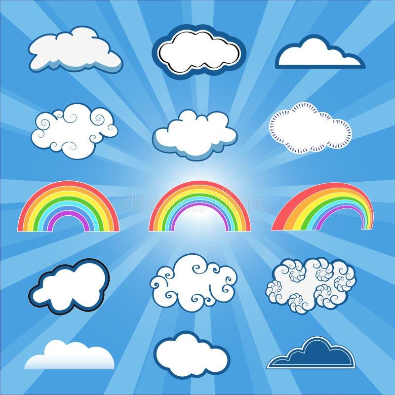 Nubes fijadas fotos de archivo libres de regalías