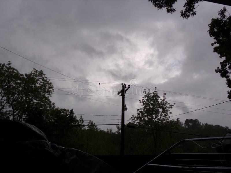 Nubes giratorias imagen de archivo